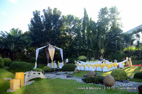 Garden Wedding Ceremony at Oasis Manila