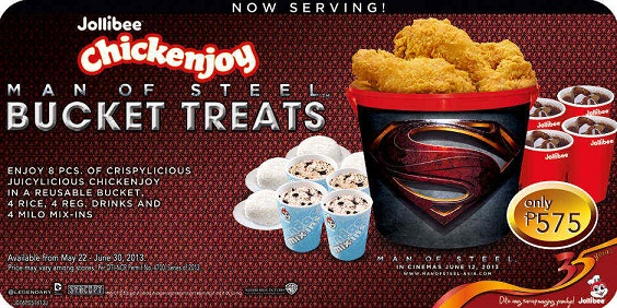 Jollibee Man of Steel Bucket Treats