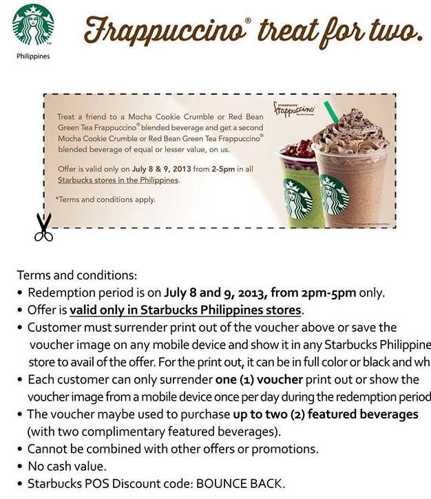 Starbucks Frappuccino Treat for Two