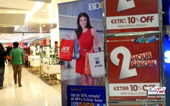 Extra 10% Off with the Sm Advantage Card from 10am-12nn - 1st Day