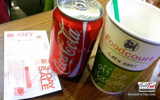 Free Coke in Can for every P150 purchase @ Sm Foodcourt with any Coke products
