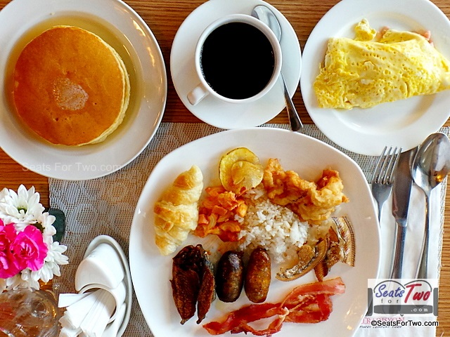 Hearty breakfast at Azalea Residence