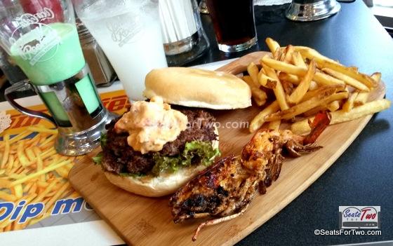 Johnny Rockets Lobster Wagyu Burger