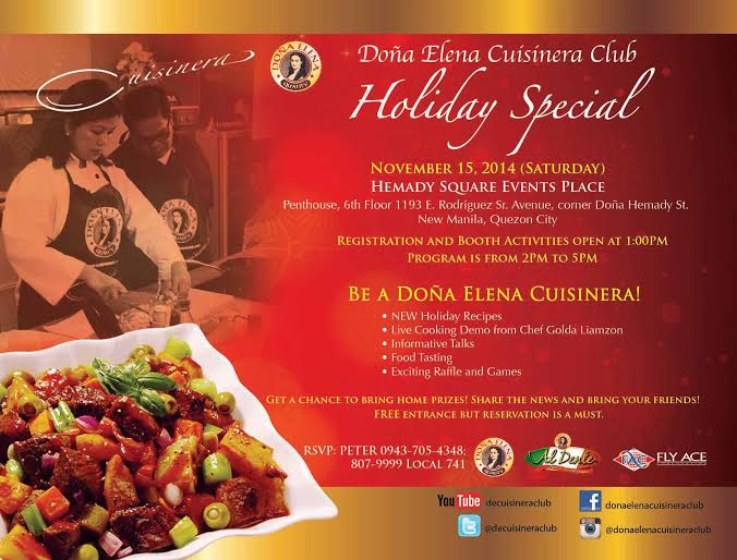 Dona Elena Cusinera Club Holiday Specials