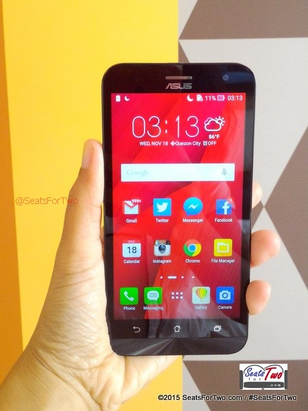 ZenFone 2 Ergonomic Design, fits my palm
