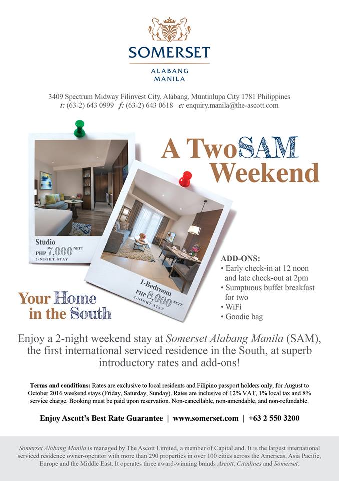 Somerset TwoSAM Weekend Promo