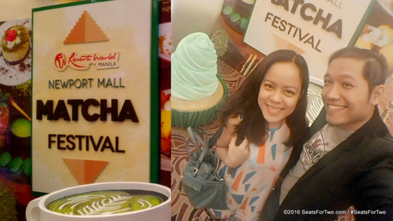 Jonel & Marjorie at the Matcha Festival in Resorts World-Manila
