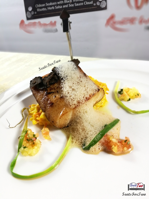 Impression's Chilean Seabass with Black Truffles