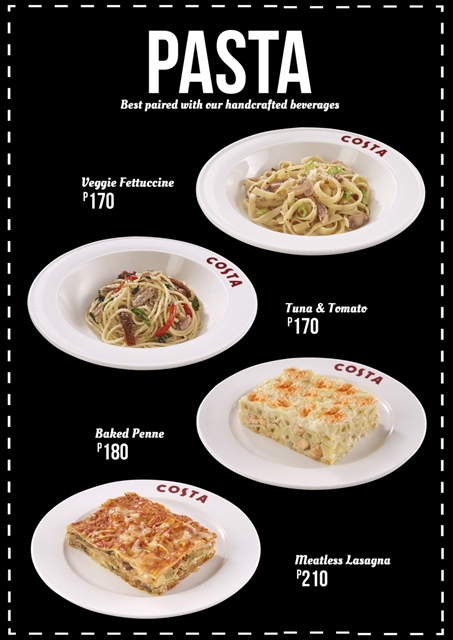 New Pasta Dishes at Costa Coffee