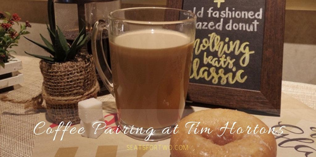 Coffee Pairing at Tim Hortons