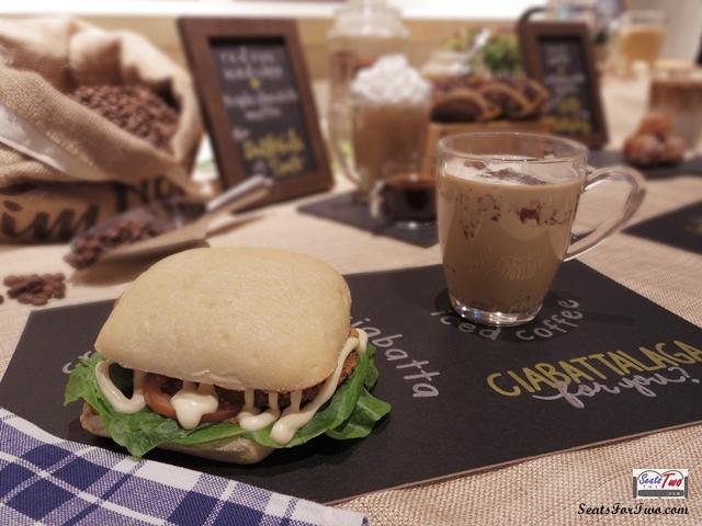 Ciabatta and Tim Hortons Latte