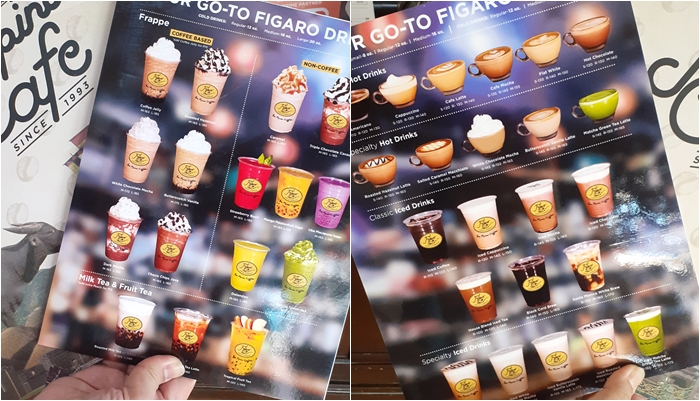 New Figaro Drinks Menu