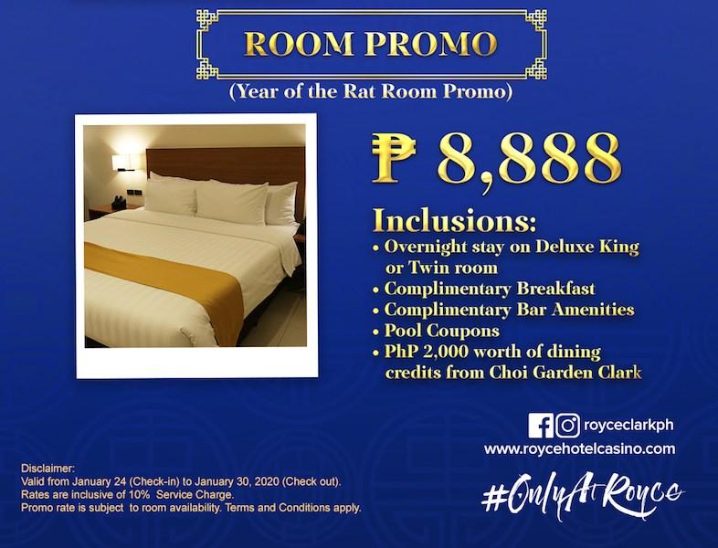 Royce Hotel Room Promo